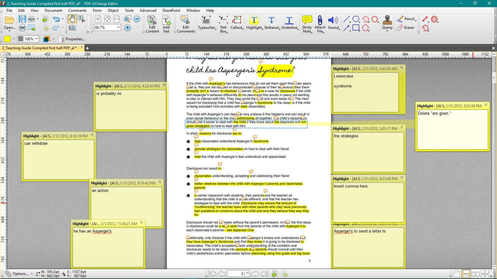 Book editing on PDF file format