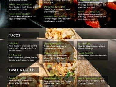 Website for a MEXICAN RESTAURANT
