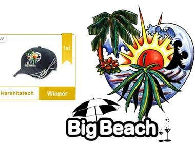 Big Beach Cap design