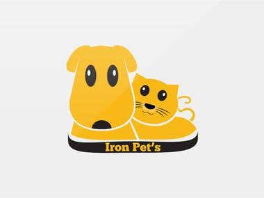 Iron Pets Logo Design