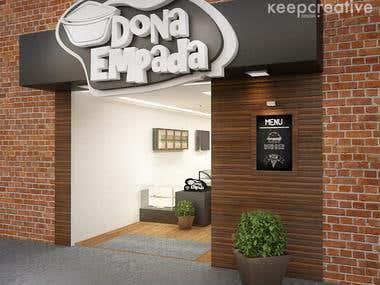 Coffee Shop 3D Visualization