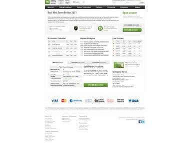 Forex Broker Drupal 7 Multilingual Web Site