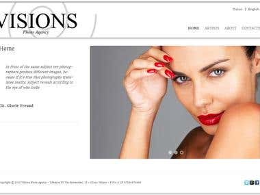 Visions Photo Agency Website