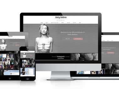 Actress/Model website