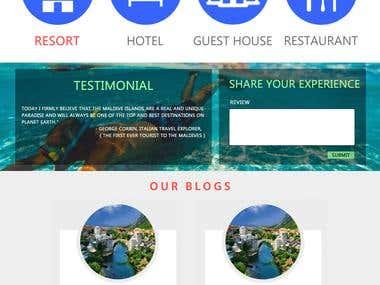 Website design for maldives visitors
