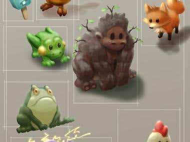 various creatures