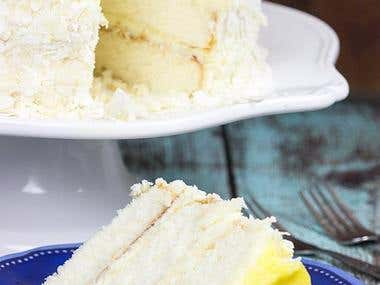 Lemon Coconut Nest Cake