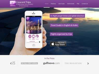 Crescent Trips WordPress Website