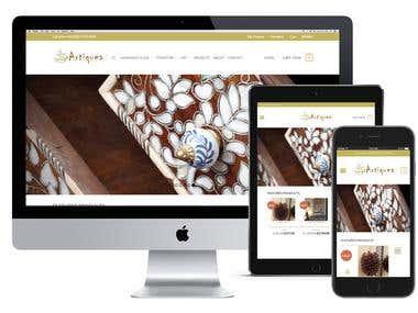 artiquea  , Wodpress + Woocommerce theme & custom Plugin