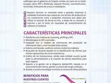 Brochure para Risk Management Solutions, España