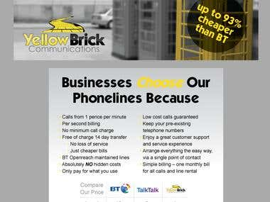 Print Advertisment for Yellow Brick Communications