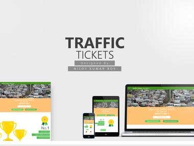 Landing page of An App named Traffic Tickets