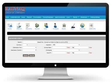 Customer Software for a SEA FOOD COMPANY