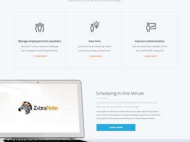 Zebra Landing Page
