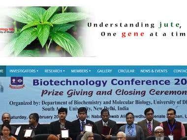 Full stack website development - Dhaka University Molboilab