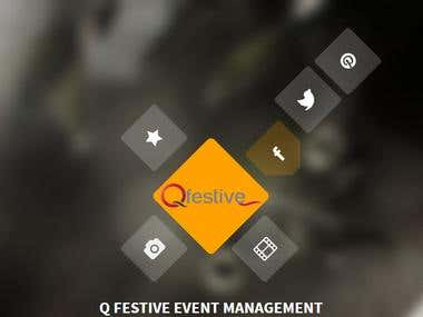 Full stack website development - Q festive event management