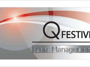 Business card design - Q festive Event Management