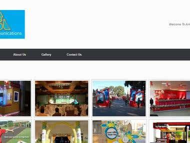Full stack website development - Arik Communications website