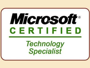 MCTS (Microsoft Certified Technology Specialist)