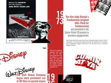 3D Movie History Infographic