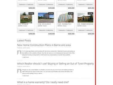 WP Real Estate Website - RETS/IDX Feed - Customization