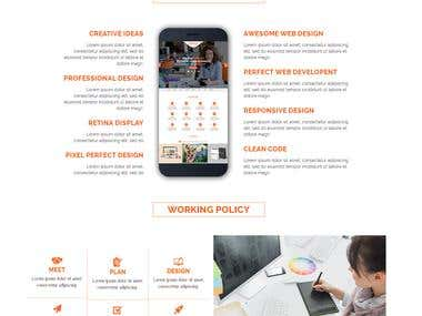 One page simplex html5 fully responsive template.