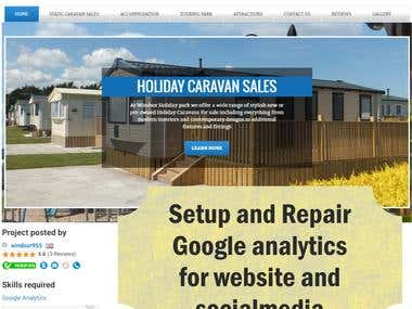 set up and repaired Google analytics (SMM-Website)
