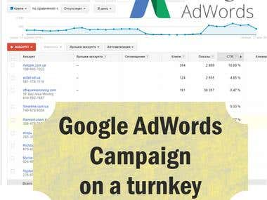 Google AdWords  on turnkey
