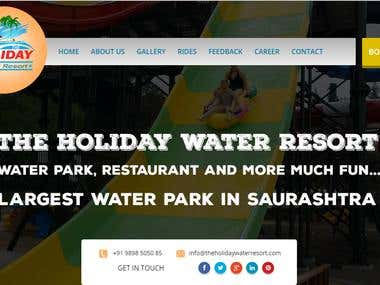 Water park Web site