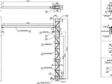 GANTRY CRANE COLUMN