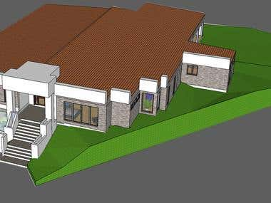 3D sketchup Exterior and Interior