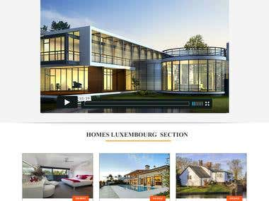 Website Template of Golden Homes