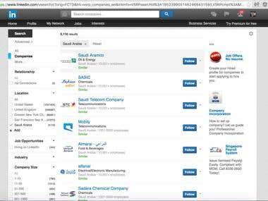 Need A LinkedIn Company Scraper