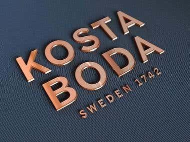 Kosta Boda 3D logo