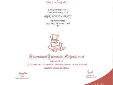 Olympiad Certificate