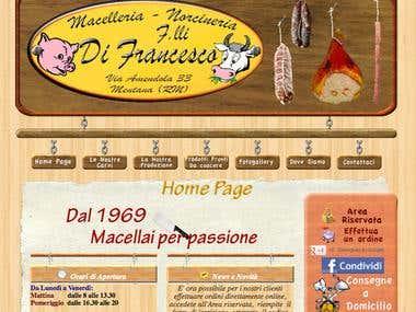 Sito Web della Macelleria Di Francesco