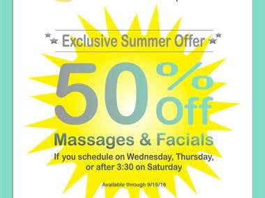 Direct Mailer - Rose of Sharon Spa