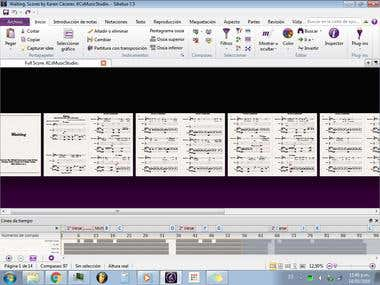 Waiting (FullScore of a given audio file). By Karen Cáceres.