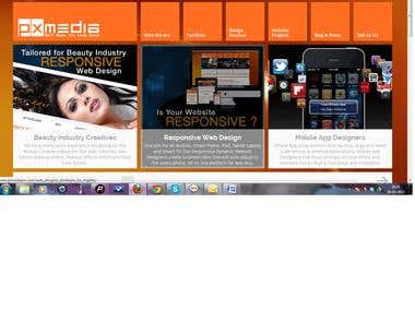 Joomla site for media company