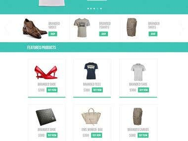 Ecommerce Website Psd to html