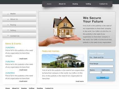 RealEState Company Website Design