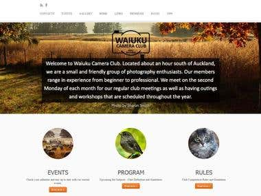Waiuku Camera Club Website Development