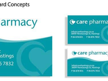 Business Card Design for Care Pharmacy