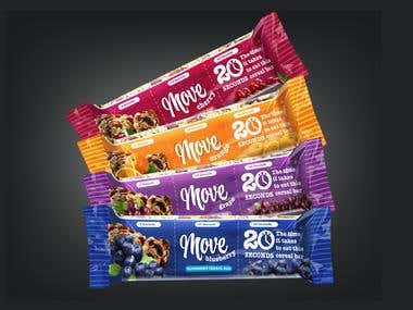 move cereal bar packaging design