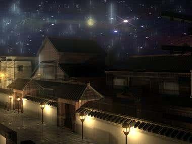 Night Street Japan 3DS Max & Maya