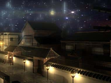 Night Street Japan 3DS Max & Maya