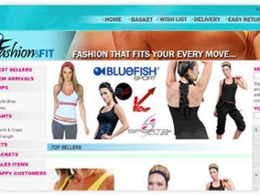 Ecommerce sports apparel website