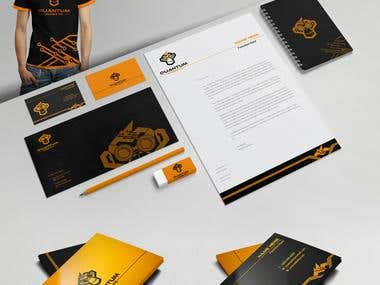 Quantum monkeys logo concept process & stationery design