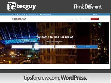 TipsforCrew - WordPress Site