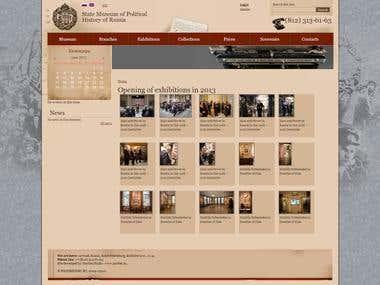 State Museum Drupal 6 Multilingual Web Site
